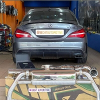 mercedes benz cla45 amg armytrix exhaust system