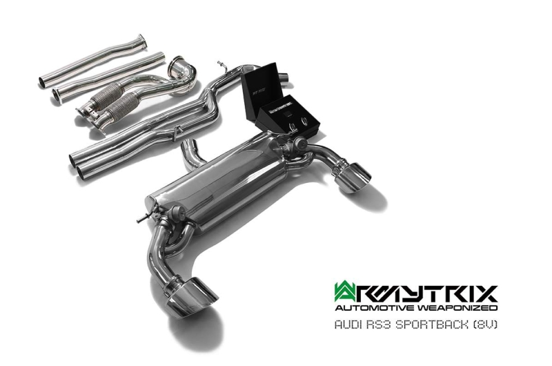 Audi Rs3 8v Sportback Armytrix Exhaust Mods Best Tuning Review Price