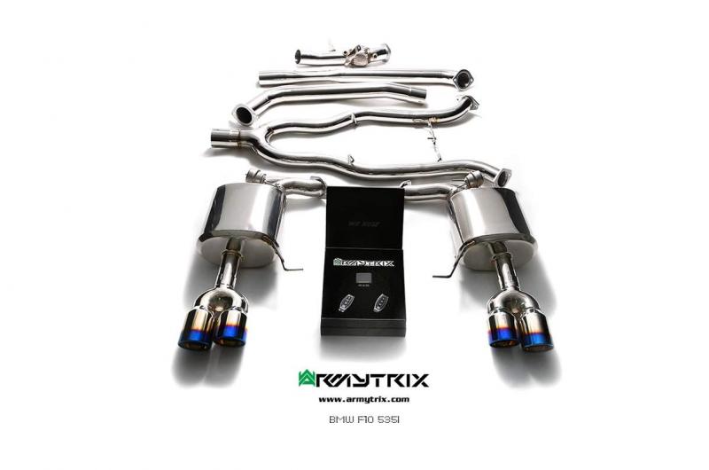 bmw f10 535i armytrix valvetronic exhaust