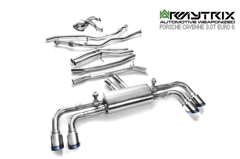 porsche cayenne E3 3.0T euro 6 armytrix valvetronic exhaust
