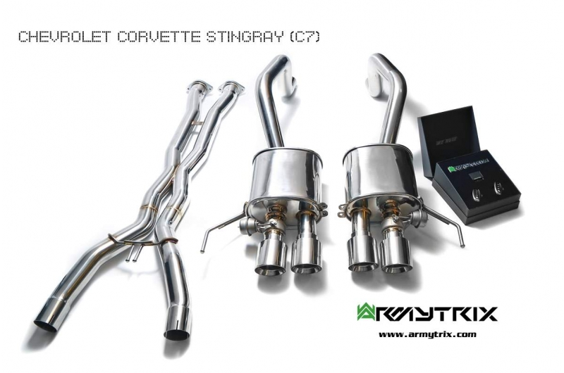 Chevrolet Corvette C7 Z06 Armytrix Exhaust Mods Best Tuning Review Price