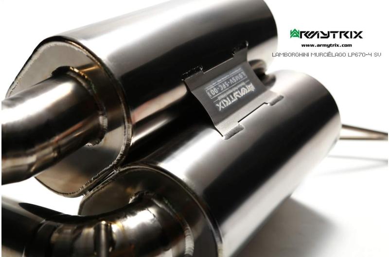 lamborghini murcielago lp640 titanium armytrix echappement prix essai