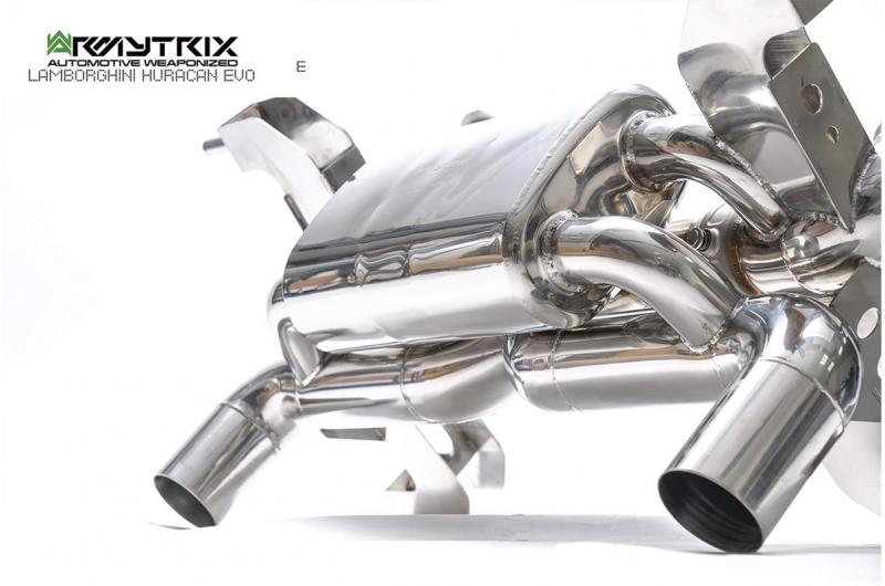 lamborghini huracan evo stainless steel armytrix exhaust valvetronic