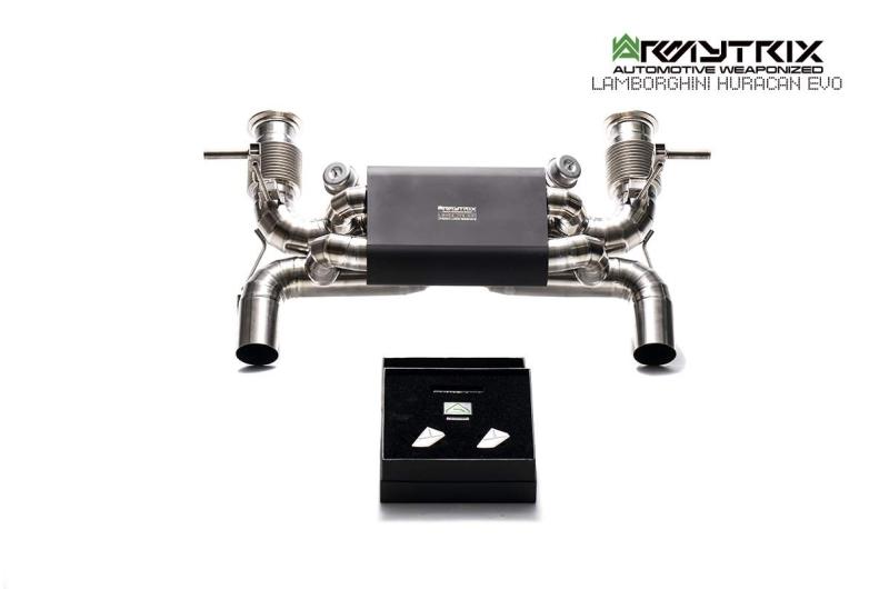 Lamborghini Huracan EVO titanium armytrix exhaust valvetronic