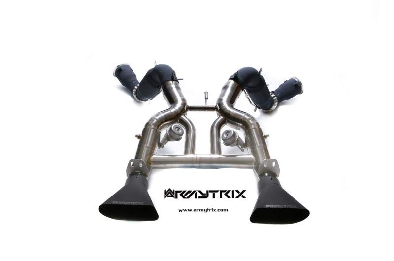 mclaren mp4 650s armytrix valvetronic exhaust