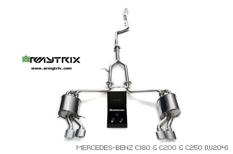 Mercedes Benz W204 C200 C250 Armytrix Exhaust Tuning Review Price