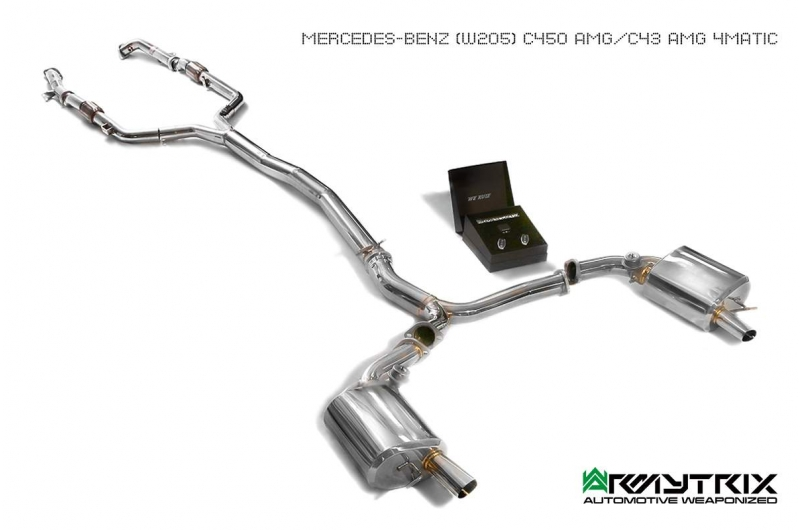 Mercedes Amg C400 C450 C43 Armytrix Exhaust Mods Best Tuning