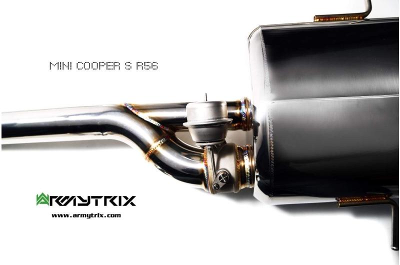 mini cooper s r56 armytrix valvetronic exhaust