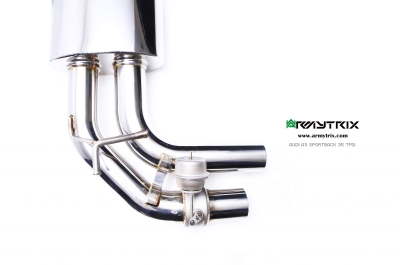 audi a3 14t armytrix exhaust valvetronic