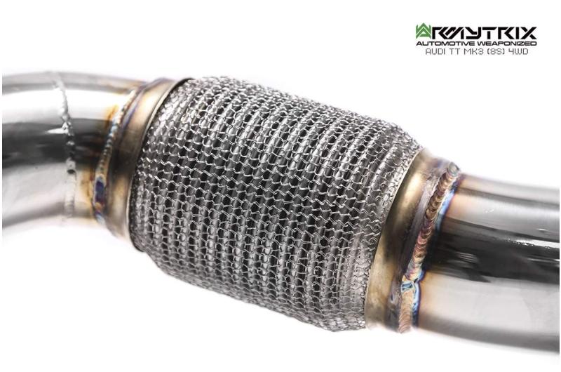 audi tt 8s armytrix valvetronic exhaust tuning