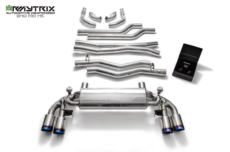 bmw f90 m5 armytrix valvetronic exhaust