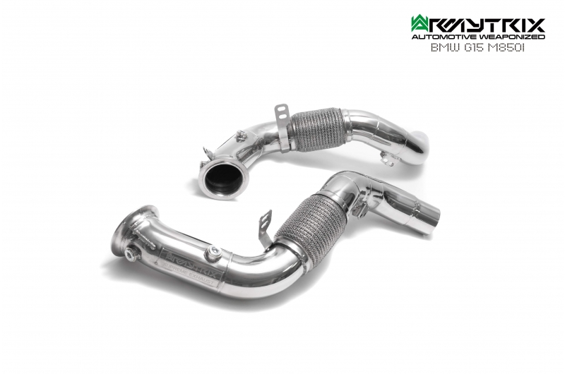 bmw g15 m850i armytrix valvetronic exhaust valvetronic test pipe straight pipe