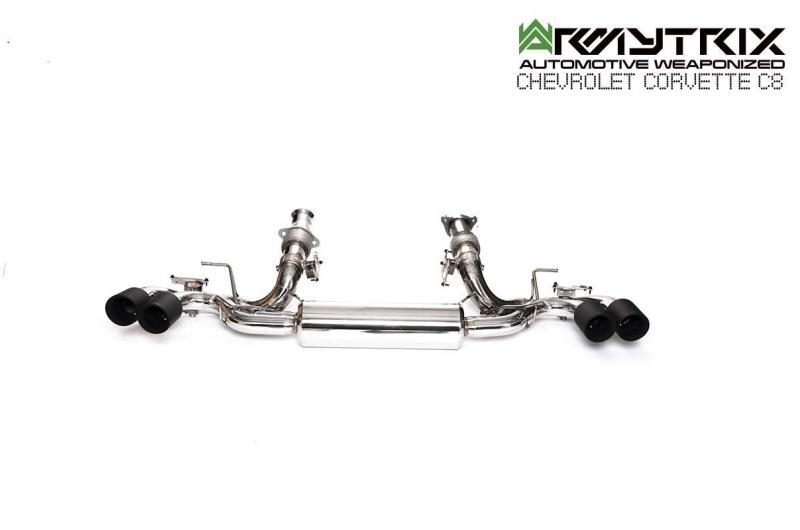 chevrolet corvette c8 armytrix exhaust system