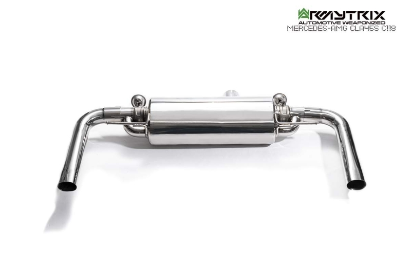 mercedes amg c118 a45s armytrix exhaust valvetronic