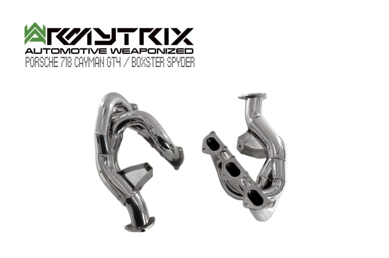 porsche 718 cayman gt4 boxster sypder armytrix exhaust