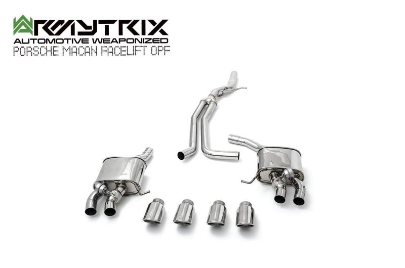 Porsche   Macan Facelift  Armytrix valvetronic exhaust system